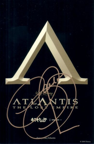Claudia Christian autographed Atlantis The Lost Empire 4x6 promo card
