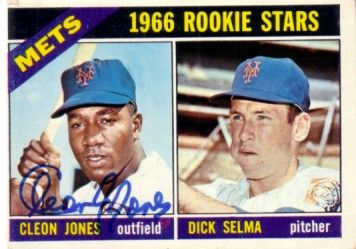 Cleon Jones autographed New York Mets 1966 Topps Rookie Card