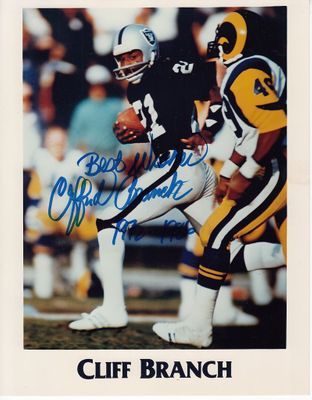 Cliff Branch autographed Oakland Raiders 8x10 photo