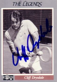 Cliff Drysdale autographed 1991 Netpro Legends tennis card