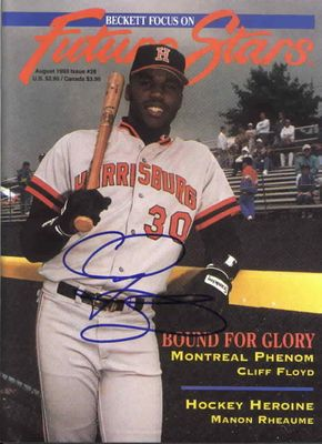 Cliff Floyd autographed 1993 Beckett magazine cover