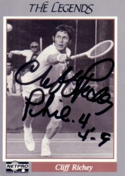 Cliff Richey autographed 1991 Netpro Legends tennis card