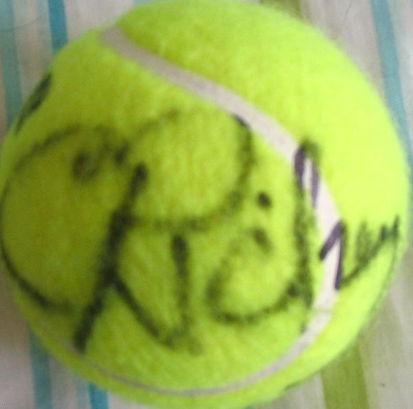 Cliff Richey autographed tennis ball