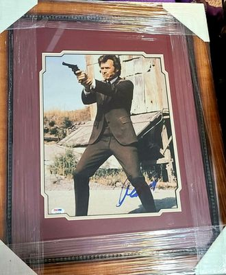 Clint Eastwood autographed Dirty Harry 11x14 movie photo custom matted and framed (PSA/DNA)