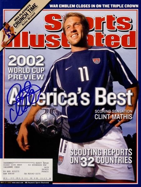 Clint Mathis autographed 2002 World Cup Sports Illustrated
