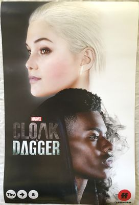 Cloak and Dagger 2018 San Diego Comic-Con 13x20 inch Marvel promo poster