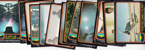 Close Encounters of the Third Kind lot of 15 different 1978 Topps trading cards