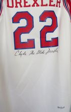 Clyde Drexler autographed Houston Cougars authentic throwback jersey #435/1250