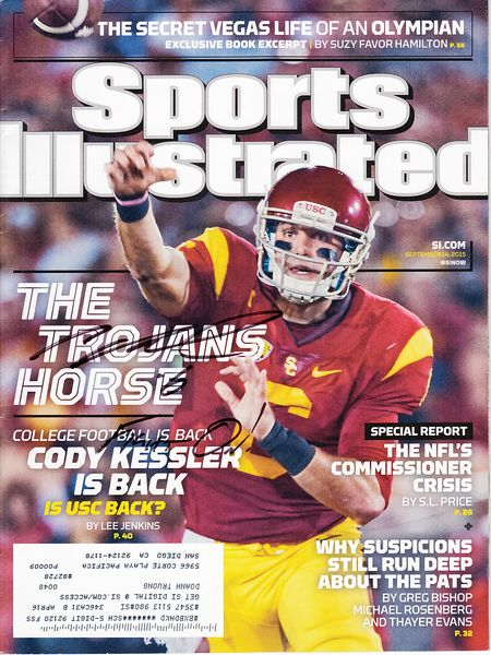 Cody Kessler autographed USC Trojans 2015 Sports Illustrated inscribed Fight On!