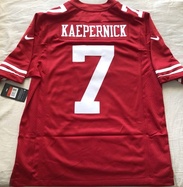 Colin Kaepernick San Francisco 49ers authentic Nike stitched red jersey NEW WITH TAGS