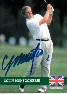 Colin Montgomerie autographed 1992 Pro Set golf card