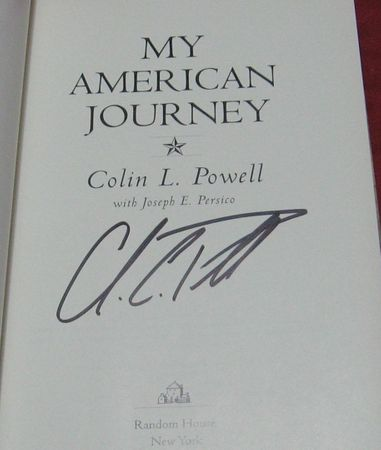 Colin Powell autographed My American Journey first edition hardcover book