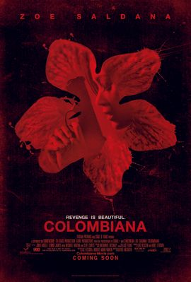 Colombiana 2011 mini movie poster (Zoe Saldana)