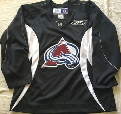 Colorado Avalanche authentic Reebok black practice jersey