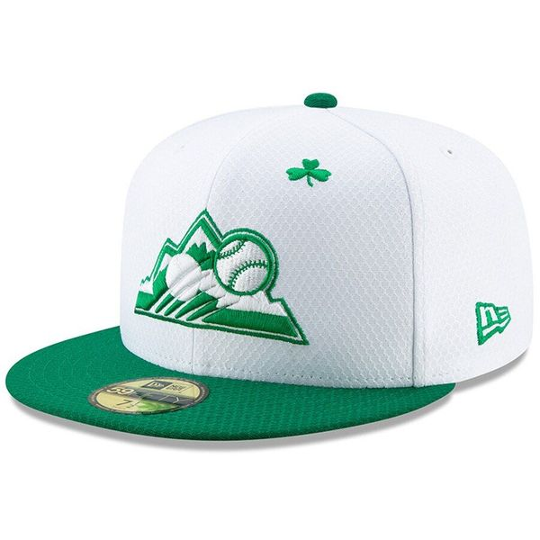 Colorado Rockies 2019 St. Patrick's Day authentic New Era 59FIFTY fitted game model cap or hat NEW