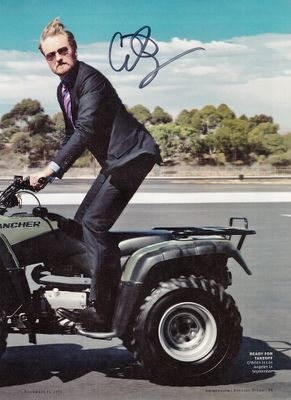 Conan O'Brien autographed full page magazine photo