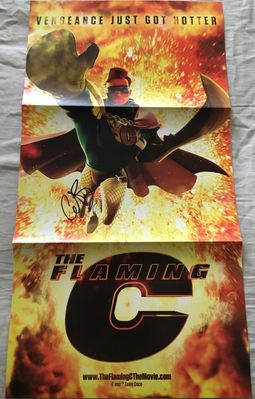 Conan O'Brien autographed 2011 Flaming C 10x20 inch foldout poster