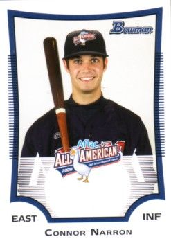 Connor Narron 2009 AFLAC Bowman Rookie Card