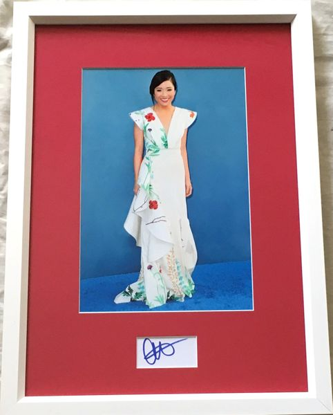 Constance Wu autograph matted and framed with 7x10 photo