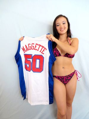 Corey Maggette autographed Los Angeles Clippers authentic Adidas Swingman stitched jersey