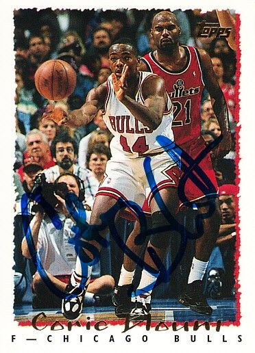 Corie Blount autographed Chicago Bulls 1994-95 Topps card