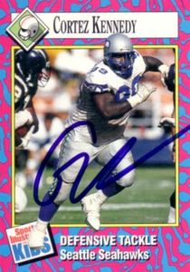 Cortez Kennedy autographed Seattle Seahawks 1993 Sports Illustrated for Kids card