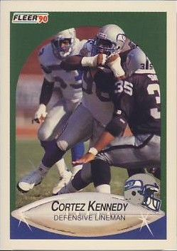 Cortez Kennedy Seattle Seahawks 1990 Fleer Update Rookie Card