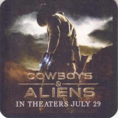 Cowboys and Aliens movie 2011 Comic-Con promo coaster
