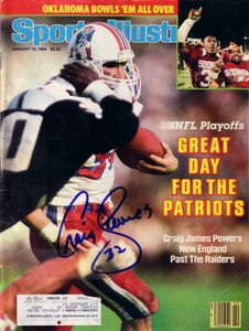 Craig James autographed New England Patriots 1986 Sports Illustrated