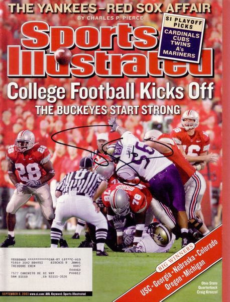 Craig Krenzel autographed Ohio State Buckeyes 2003 Sports Illustrated