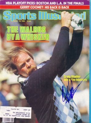 Craig Stadler autographed 1982 Masters Champion Sports Illustrated