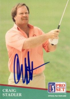 Craig Stadler autographed 1991 Pro Set golf card