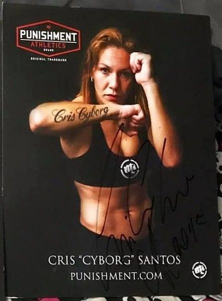 Cris Cyborg autographed 8x11 promotional photo