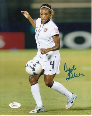 Crystal Dunn autographed U.S. Soccer 8x10 photo (JSA Witnessed)