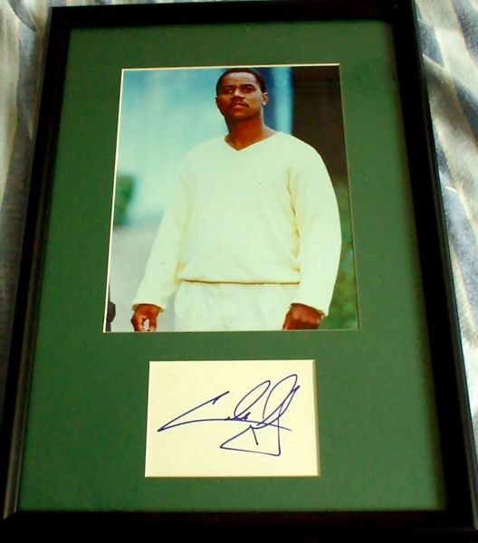 Cuba Gooding Jr. autograph matted and framed with 8x10 photo