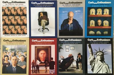 Curb Your Enthusiasm Seasons 1 through 8 complete set of DVDs LIKE NEW