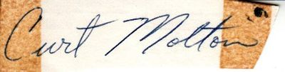 Curt Motton autograph or cut signature (JSA)