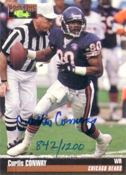 Curtis Conway Chicago Bears certified autograph 1995 Pro Line card