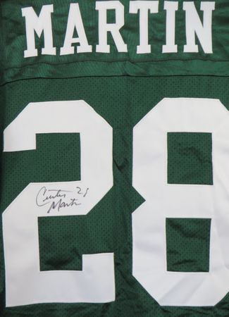Curtis Martin autographed New York Jets authentic Adidas stitched jersey