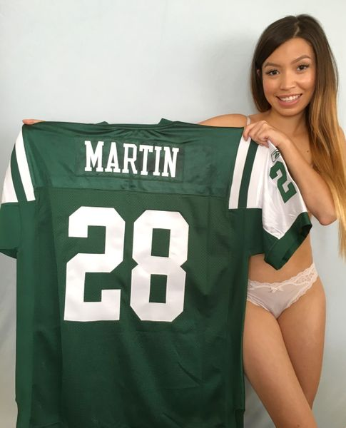 Curtis Martin New York Jets authentic Reebok GAME MODEL stitched green jersey NEW