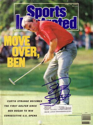Curtis Strange autographed 1989 U.S. Open Sports Illustrated
