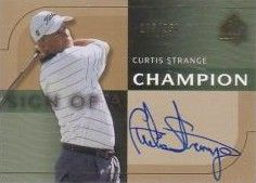 Curtis Strange certified autograph 2003 SP golf card #108/250