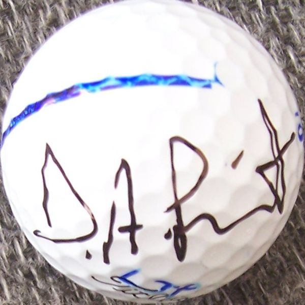 D.A. Points autographed 2012 Farmers Insurance Open tournament used Titleist golf ball