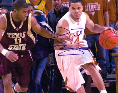D.J. Augustin autographed Texas Longhorns 8x10 photo