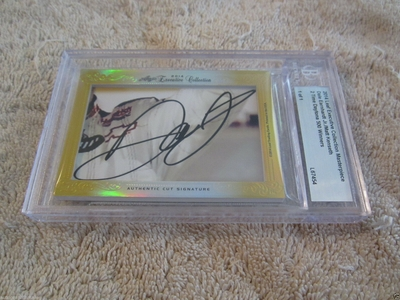 Dale Earnhardt Jr. and Matt Kenseth 2014 Leaf Masterpiece Cut Signature certified autograph card 1/1 JSA