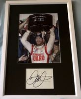 Dale Earnhardt Jr. autograph matted and framed with 2014 Daytona 500 8x10 celebration photo