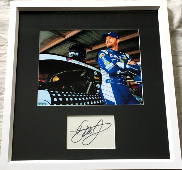 Dale Earnhardt Jr. autograph matted and framed with 8x10 photo