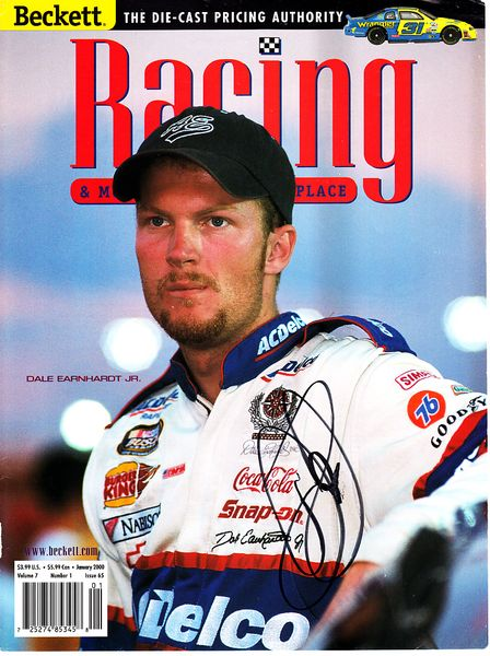 Dale Earnhardt Jr. autographed 2000 Beckett Racing magazine cover