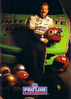 Dale Jarrett 1992 Pro Line Portraits Collectible insert card #6