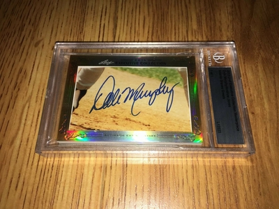 Dale Murphy and Andruw Jones 2013 Leaf Masterpiece Cut Signature certified autograph card 1/1 Braves JSA